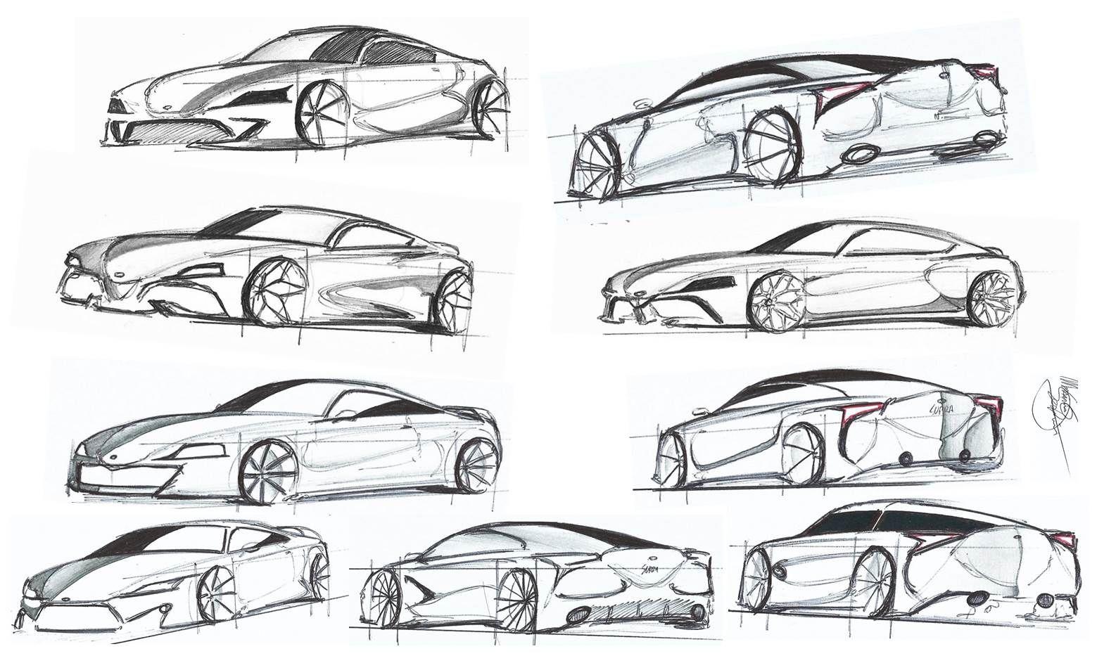 Sketch Cars Supra Concept Car Design