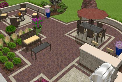 nice concept patio pavers design