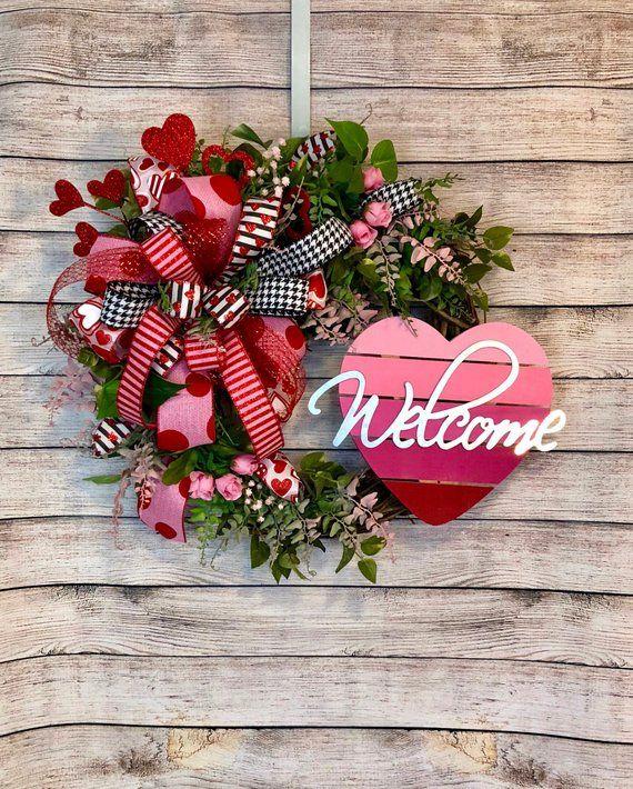 New Valentine S Day Grapevine Wreath Front Door Decor Heart Wreath Grapevine Wreath Front Door Rustic Valentines Wreath Diy Valentines Day Wreath Valentine Wreath Diy Valentine Day Wreaths