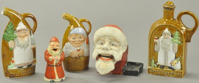 GROUPING OF FIVE CHRISTMAS ITEMS : Lot 1334