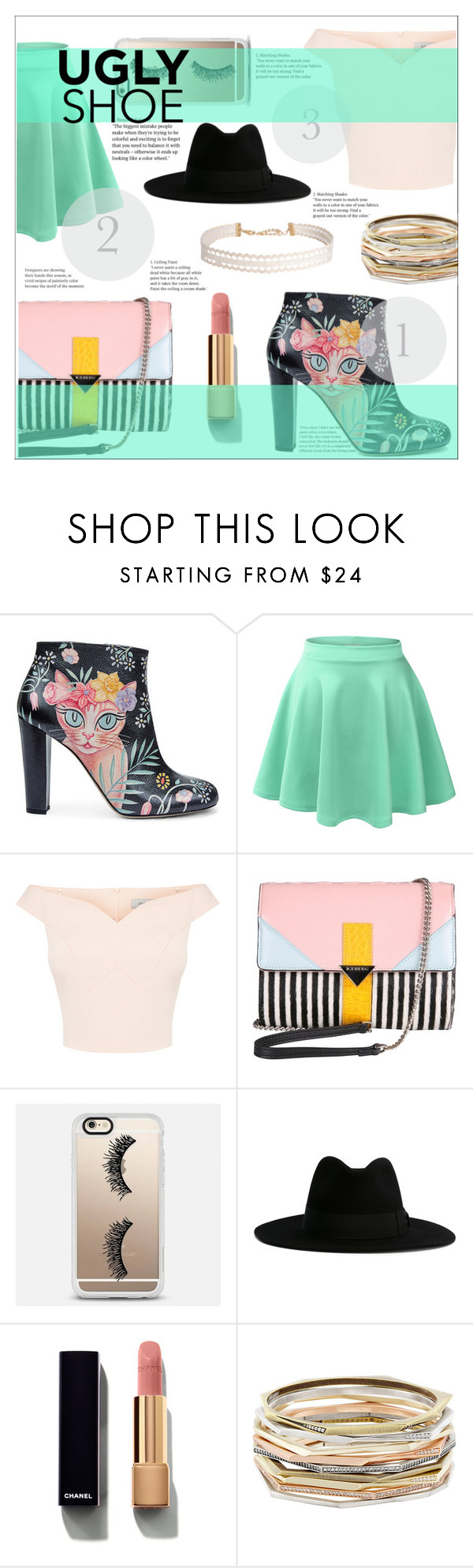 """""""Ugly shoe"""" by iamasmallgiant ❤ liked on Polyvore featuring Camilla Elphick, LE3NO, Iceberg, Casetify, Yves Saint Laurent, Chanel, Kendra Scott and Humble Chic"""