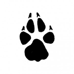 Wolf paw svg files for cricut Wolf paw cut file for silhouette Wolf paw vector png eps Wolf paw dxf plasma Wolf paw clipart Wolf paw t-shirt