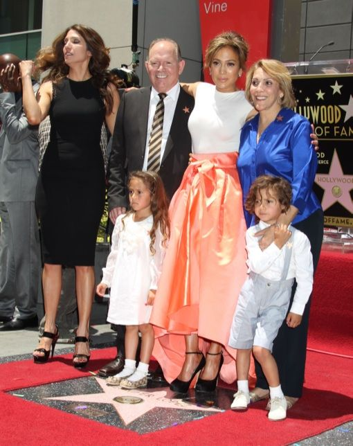 Jlo and fam. Her kids are always dressed so cute!