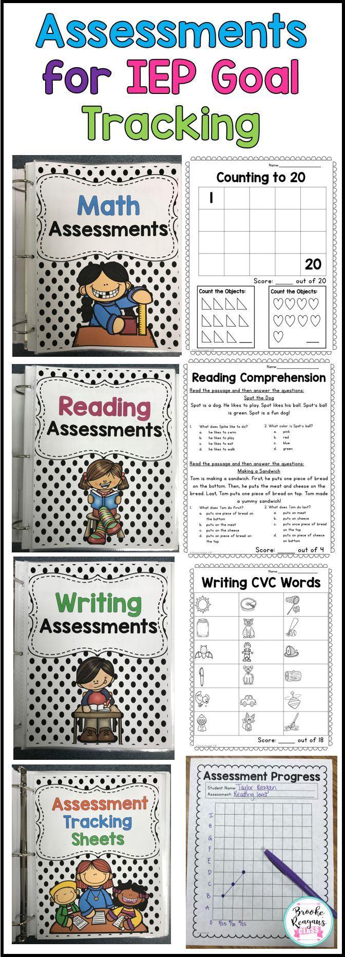 Assessments for IEP Goal Tracking | Recursos para maestros, El aula ...