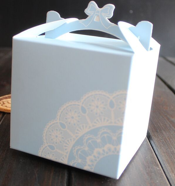 New Design Pnaotne Color Printed Small Wedding Cake Boxes From