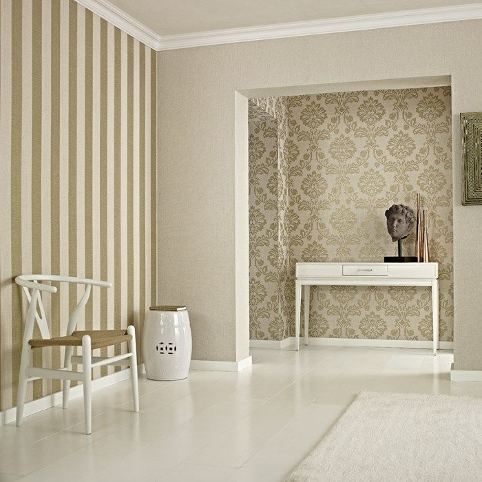 Tapete Aurora Beige / Gold von Graham and Brown | Barock ...