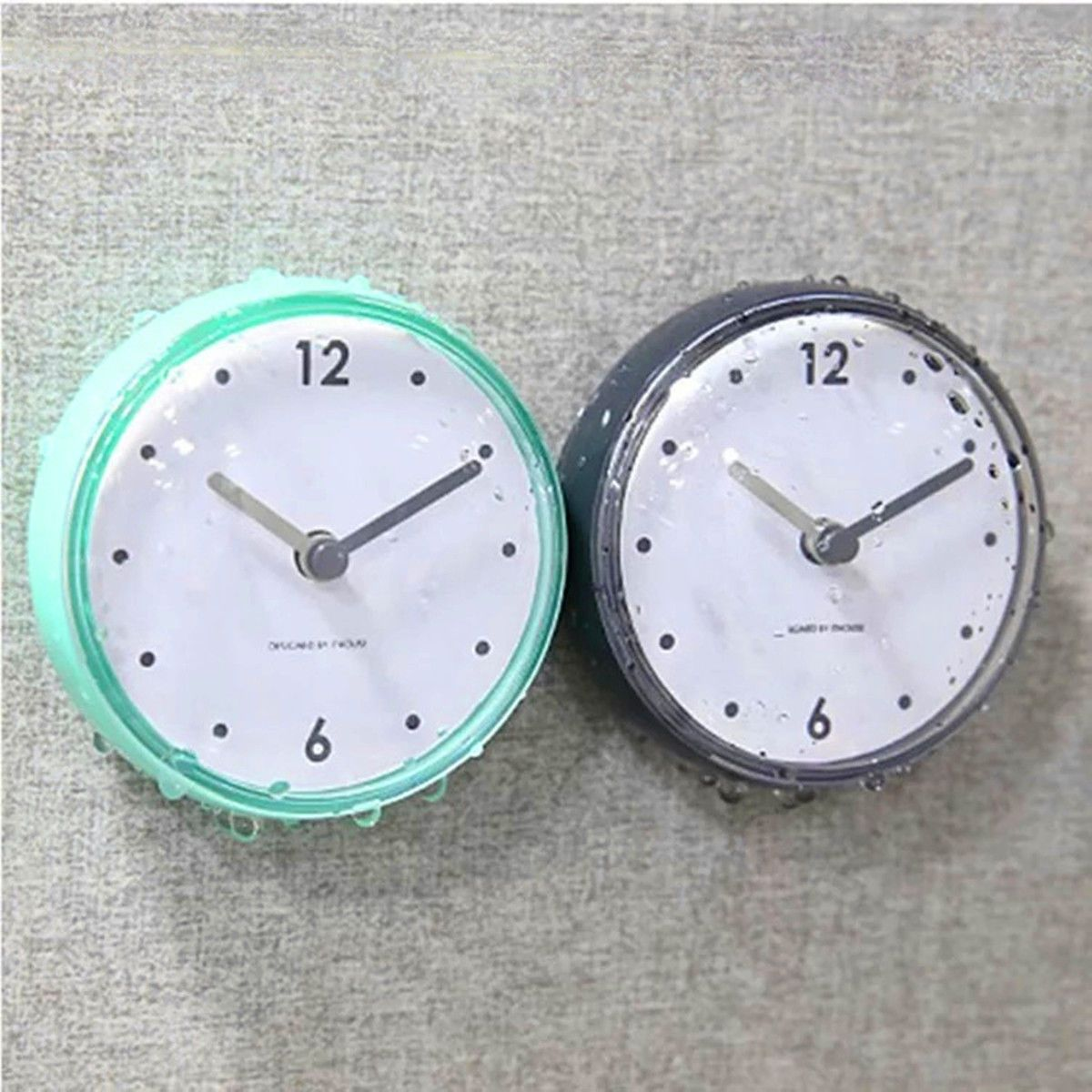 Waterproof Kitchen Bathroom Bath Shower Clock Suction Cup Sucker