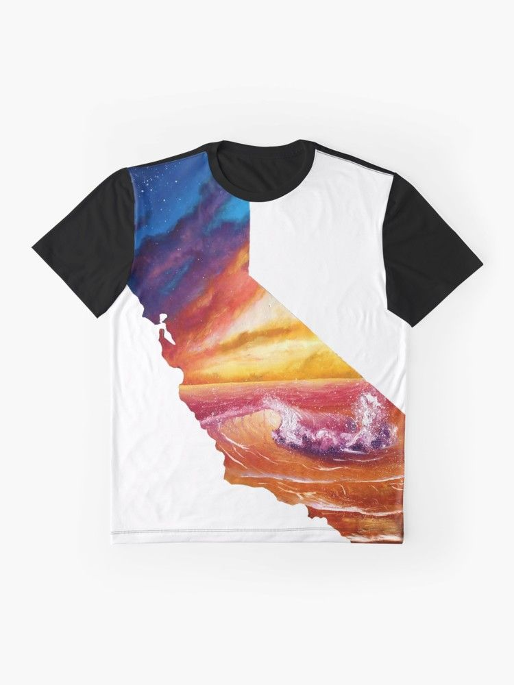 California Beach And Milky Way T Shirt By Kanoelani Art Classic