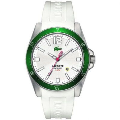 Lacoste - Mens Seattle White Silicone Watch - 2010664  Online price: £99.00  www.lingraywatches.co.uk