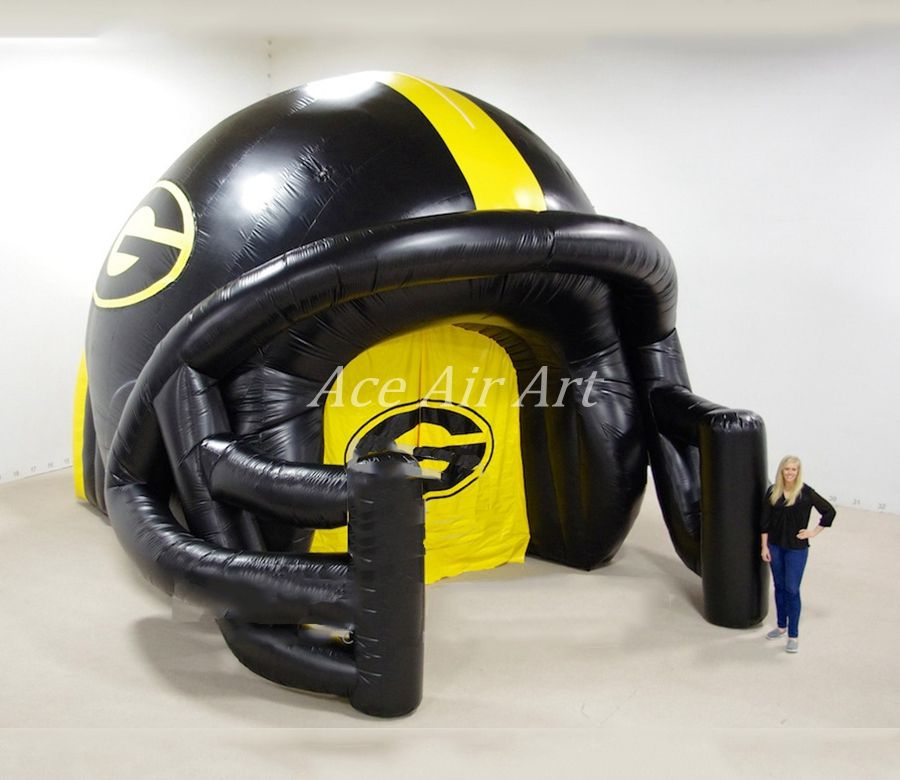 Factory Price Inflatable Football Tunnel Helmet Arch Inflatable Helmet Arch Football Helmets Helmet Inflatable