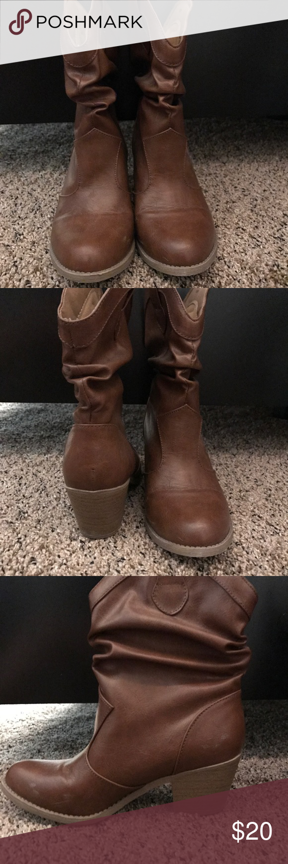 3a4afdefcef5 Ruched ankle booties Worn once