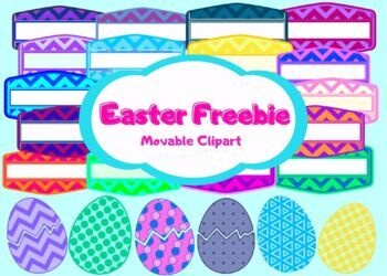 Easter Freebie Moveable Clipart