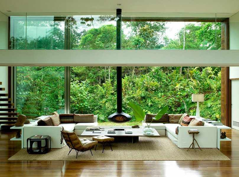 Cute garden living room on living room with 3