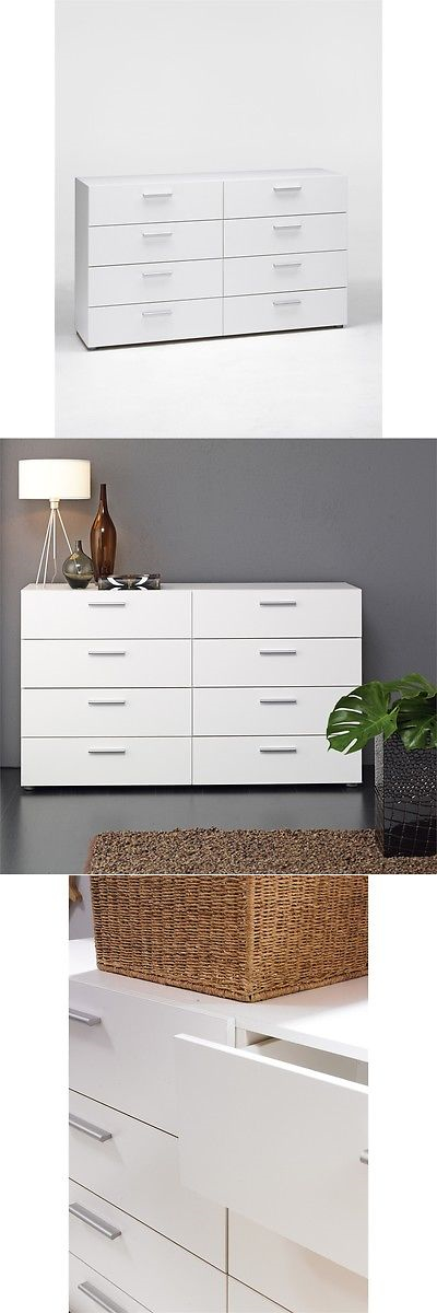 Dressers and Chests of Drawers 114397  Tvilum Pepe 8 Drawer Double Dresser   White. Dressers and Chests of Drawers 114397  Tvilum Pepe 8 Drawer Double