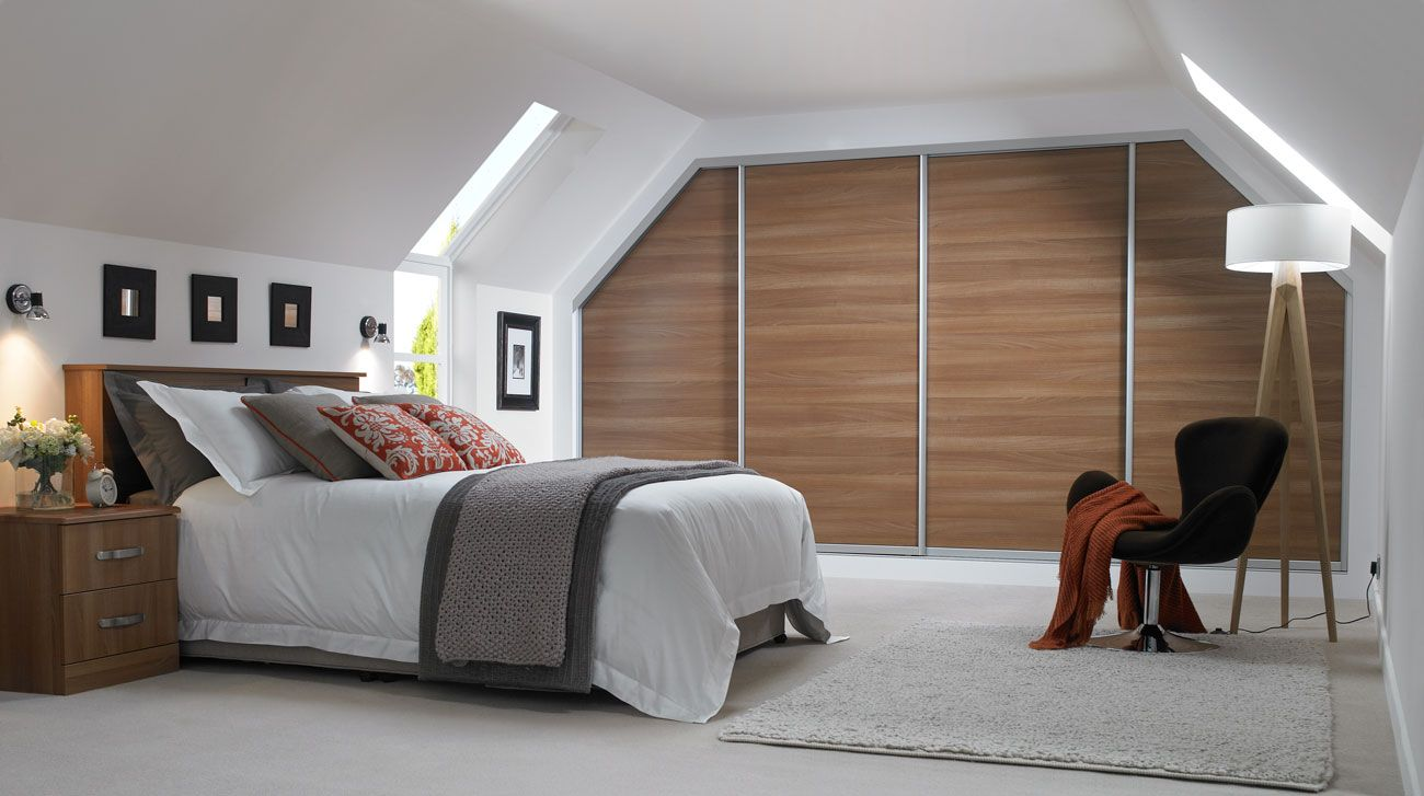 Attic Bedroom Furniture Decor Fitted Loft Sloping Ceiling And