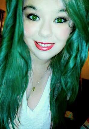 Splat Emerald Green Beachwaves Greenhair Longhair