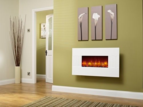 Be Modern Orlando Gloss White Wall Mounted Electric Fire | Home ...