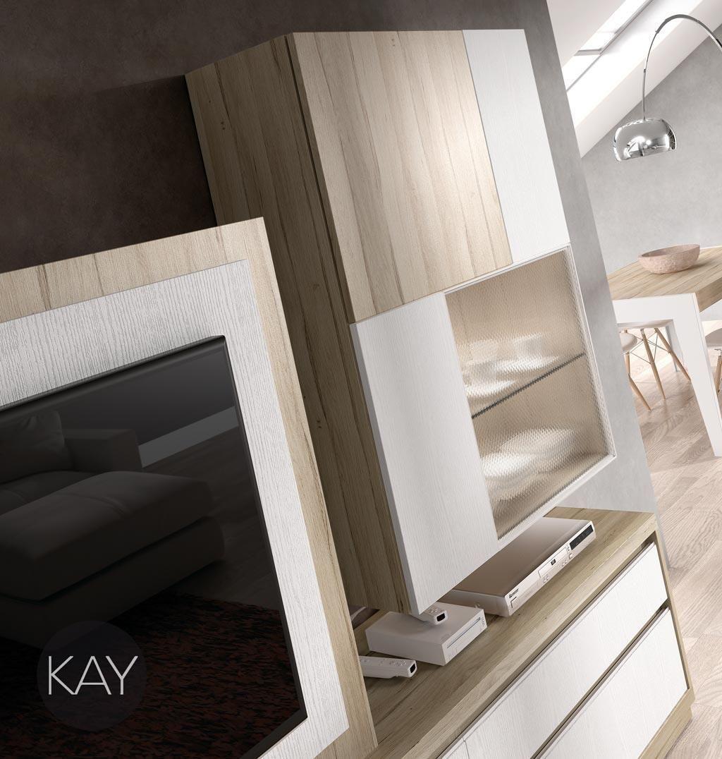 Mueble Alto Con Vitrina Con Cristal De Dise O Con Colores N Rdicos  # Muebles Novedosos