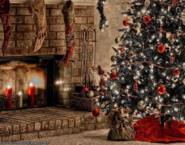 Warm Christmas Fireplace Christmas Wallpaper Free Christmas Background Christmas Phone Wallpaper Christmas wallpaper windows 10