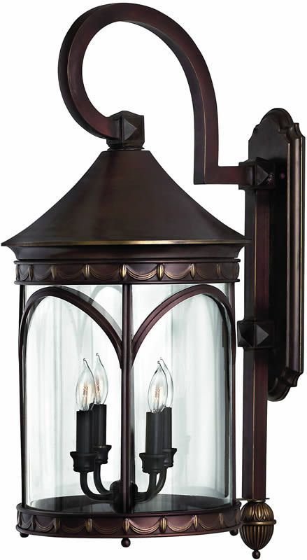 30 Inchh Lucerne 4 Light Large Outdoor Wall Lantern Copper Bronze