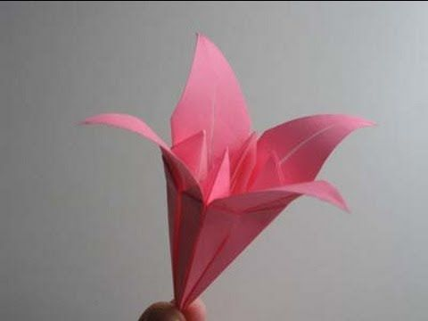 Complicated origami pinterest origami origami instructions origami lily video instructions watch video on folding an origami lily mightylinksfo