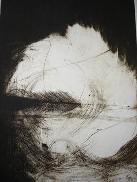 Swept Far Away, monoprint by Jane Barry, 2009 950mmX750mm