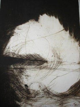 Swept Far Away, monoprint by Jane Barry, 2009 950mmX750mm