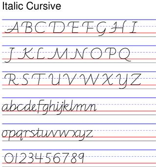ITALIC WORKSHEETS. With thanks to Richard Crookes. Updated May 11th '11