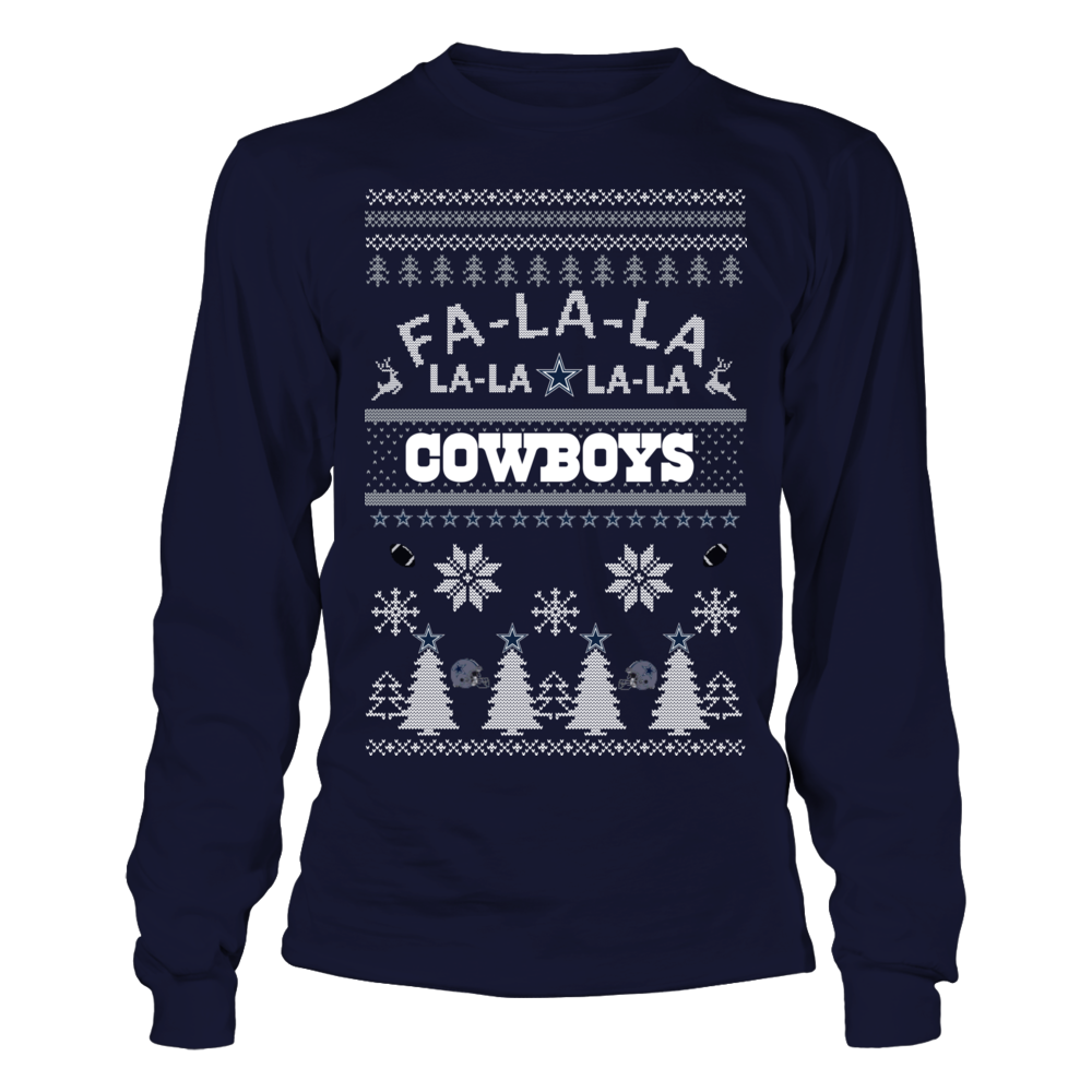 reputable site 202f6 f42a6 Dallas Cowboys Ugly Christmas Sweater   Fa La Cowboys   My ...