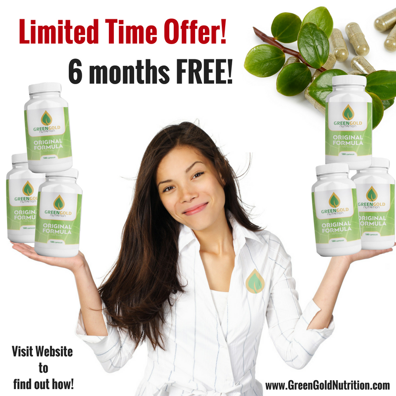 Get 6 Months Of Our New Greengold Original Formula Capsules For Free Limited Time Offer Vitamin Supplement How To Find Out Limited Time Offer Offer