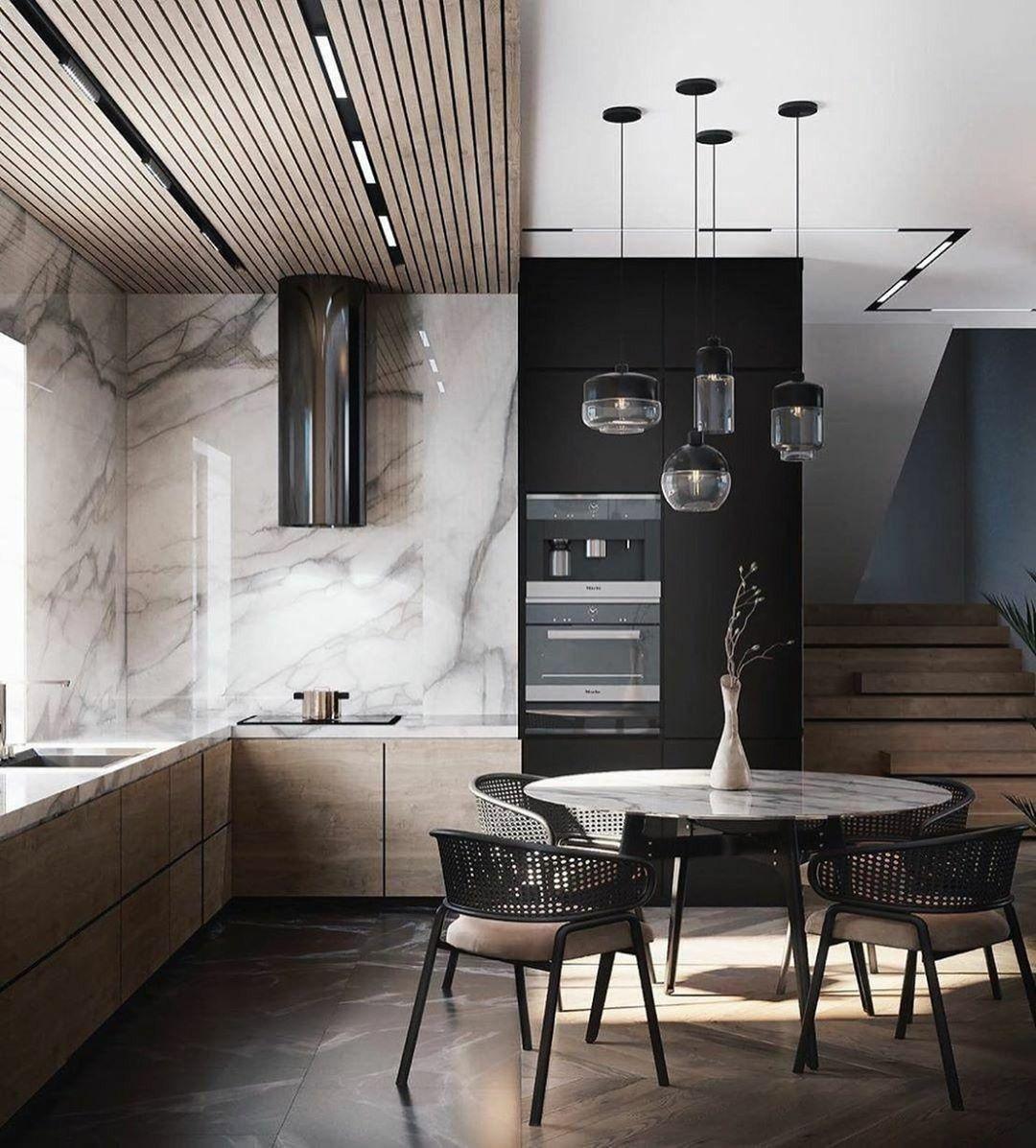 Apartment Inspiration Bureau L Interio In 2020 Kitchen Design Trends Copper Interior Luxury Interior
