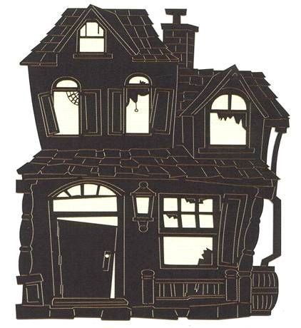 Leaky Shed Studio - Cardstock Die Cuts - Old House Black at Scrapbook.com