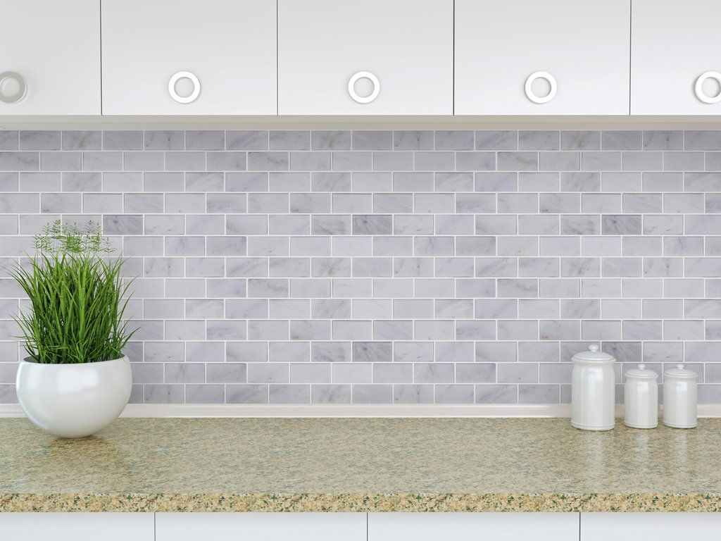 Brick 2x4 Subway Tile Mosaic Polished Carrara Marble In 2020 Shower Wall Tile Mosaic Tiles Arabesque Tile Backsplash