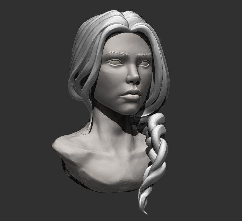 Face_Sculpt_Study, Clayton Peterson on ArtStation at https