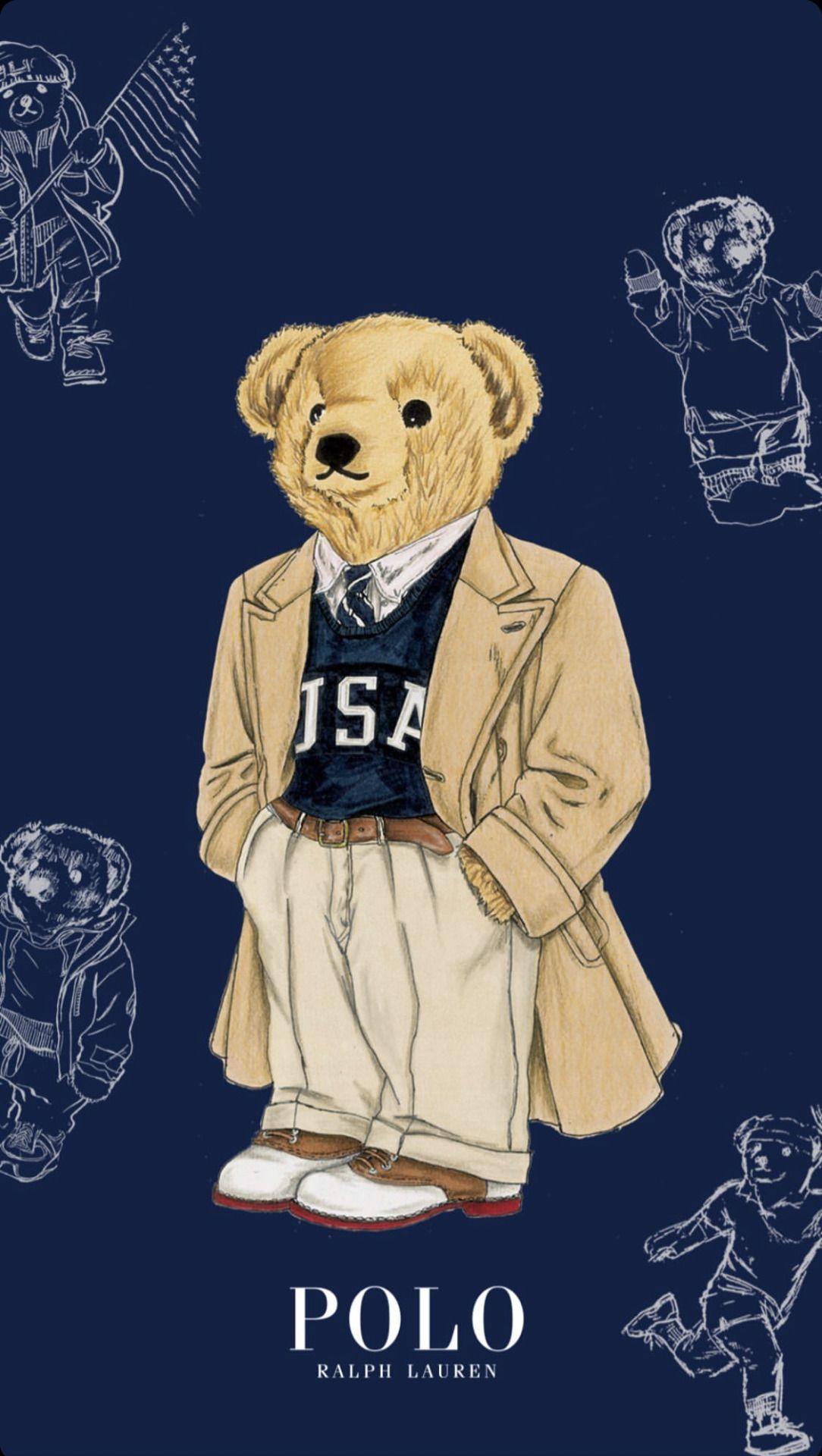 Polocoat Bear Art Bear Illustration Bear Wallpaper