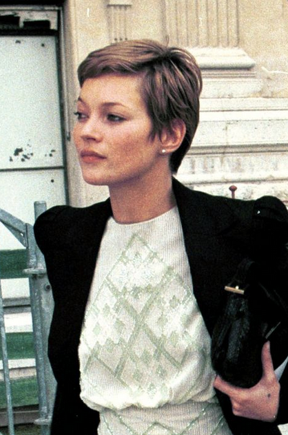 Kate Moss 90s Pixie Short Hair Styles Texturizer On Natural Hair Kate Moss