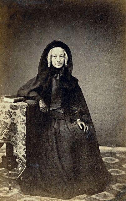© Ann Longmore-Etheridge Collection. Blonde on Black, Unmarked English Albumen Carte de Visite, Circa 1867.