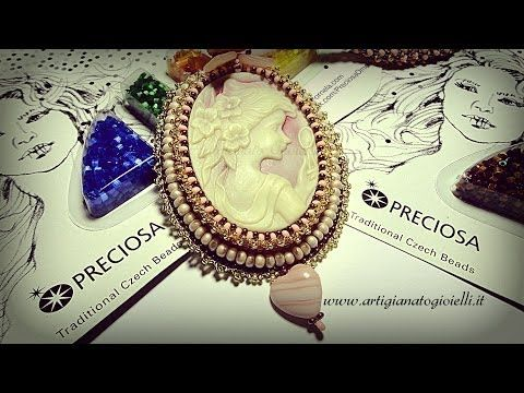 Set in Stone Pendant (Bead Embroidery) - YouTube