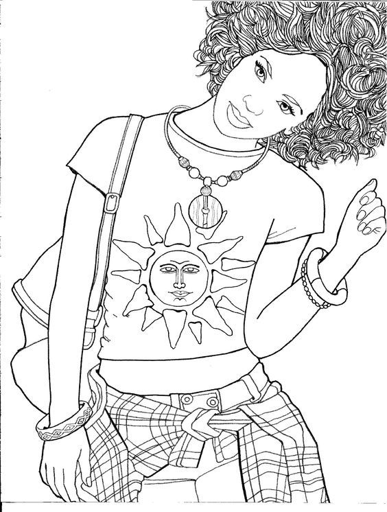 halloween therapy coloring pages   Omeletozeu   Color Therapy   People coloring pages ...