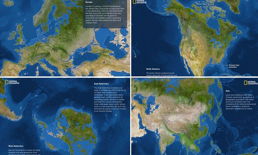 What Would The World Look Like If All The Ice Melted Ice