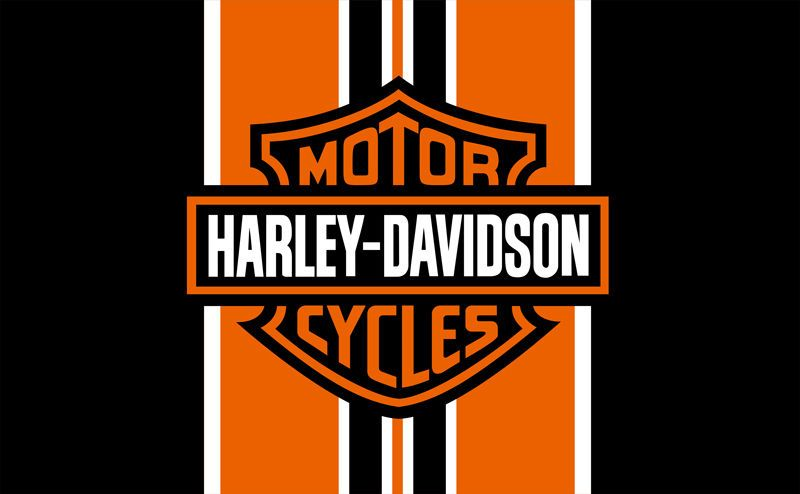 Harley Davidson Orange Black Banner Flag Sign 3x5 Hanging Motorcycle Club Harley Davidson Logo Harley Davidson Wallpaper Harley Davidson