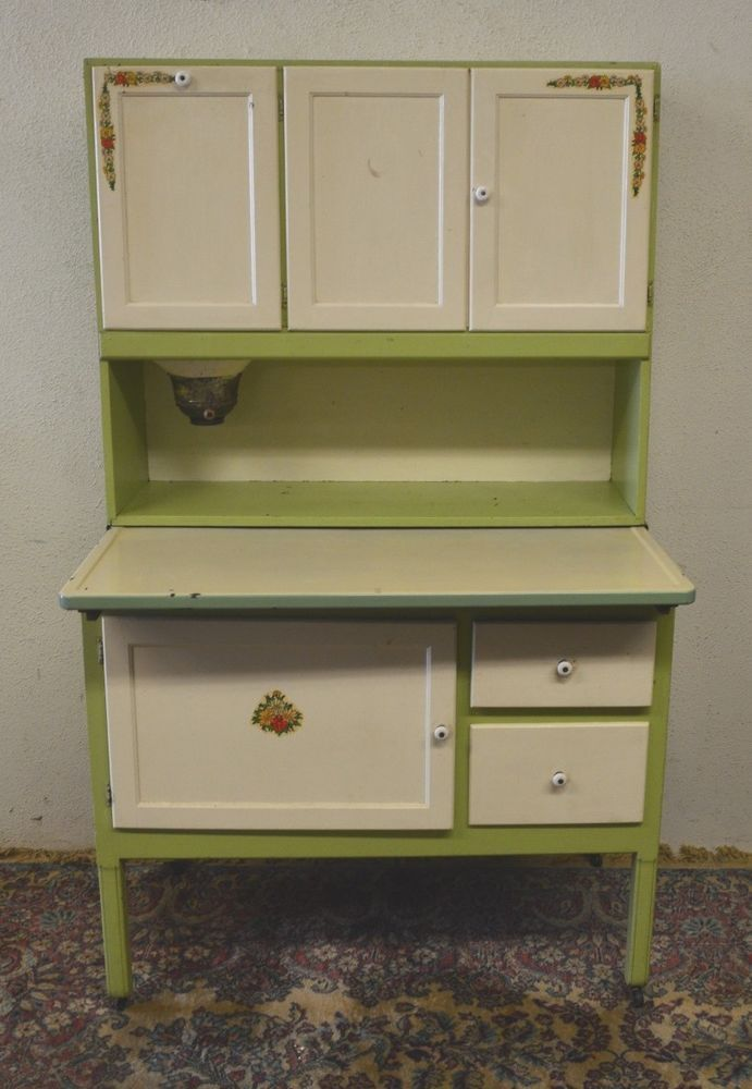 Details About Antique 1920 S Hoosier Cabinet With Flour
