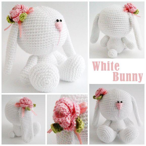 White Bunny | Amigurumis | Pinterest | Tejido, Juguetes y Juego
