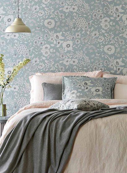 Florale Tapete Maelee von Sanderson-3309 Retro - tapeten design schlafzimmer