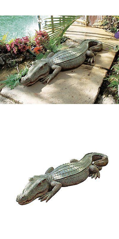 Statues and Lawn Ornaments 29511: Alligator Sculpture Home Garden ...