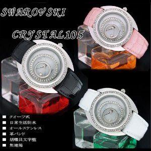 腕時計 レディース腕時計 人気 レディース 腕時計 ブランド スワロフスキー105石 MANATO