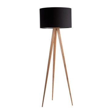 Wood Tower Floor Lamps - Zuiver: Tripod Floor Lamp Wood Black, at 9% off! Tower Lamps