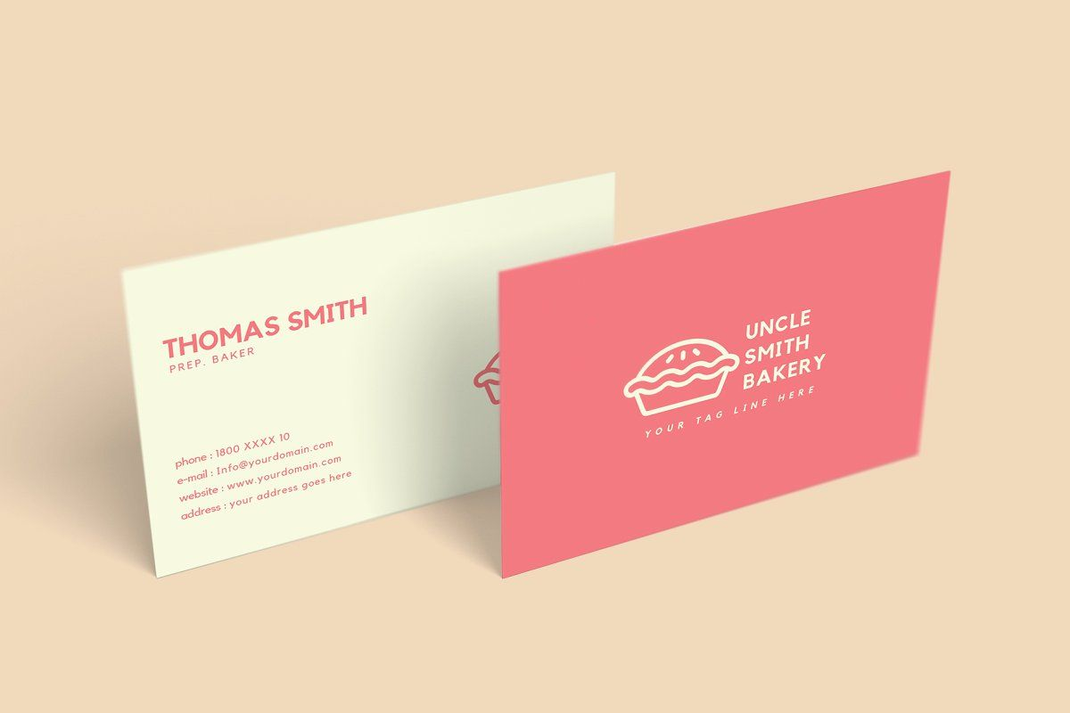 Minimal Bakery Business Card Bakery Business Cards Bakery Business Cards Templates Business Card Template