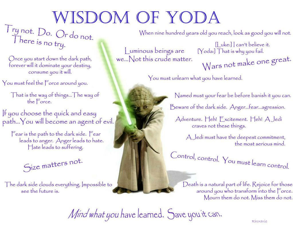 Wise Master Yoda On Misc Yoda Quotes Star Wars Star Wars Quotes