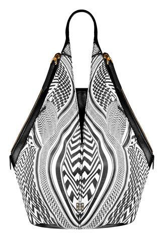 Givenchy Optical-print leather Tinhan bag